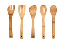 Wooden Kitchen Utensils Isolat...