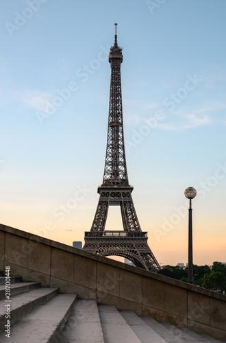 Fotobehang Eiffeltoren Eiffel tower in Paris , France in morning light