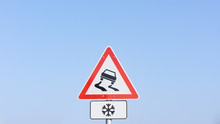 Traffic Sign Warns About Slipp...