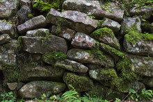 Old Stones With Moss And Green...