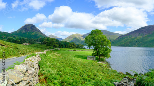 Wast Water towards Wasdale and Scafell Pike, Lake District, UK Wallpaper Mural