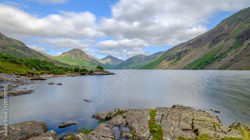 Photo Wast Water towards Wasdale and Scafell Pike, Lake District, UK