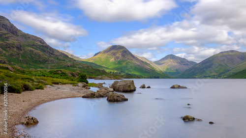 Fényképezés  Wast Water towards Wasdale and Scafell Pike, Lake District, UK
