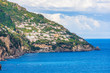 Italy, Positano, panorama of the coast