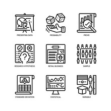 Statistical Analysis Icons Set