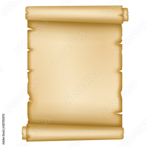 Photo  isolated old parchment on white background