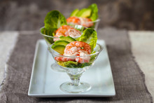 Prawn Cocktail With Lettuce And Avocado