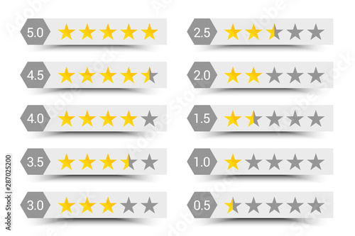 Fotografía Five stars rating composition