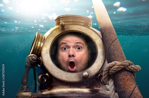 Retro diving suit