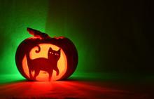 Halloween Cat Pumpkin.