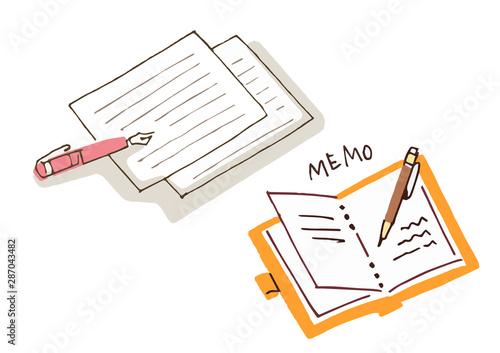 手紙と手帳 Canvas Print