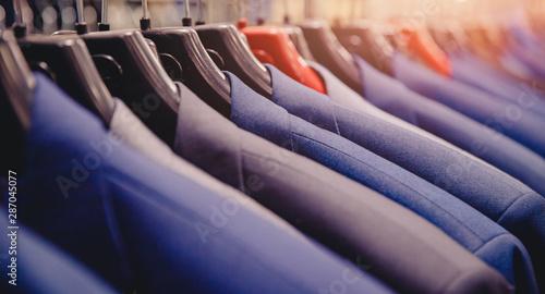 Shop jacket men series, business hanger clothing Canvas Print