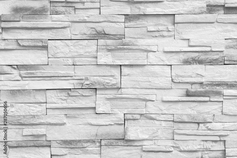 Fototapeta Gray brick wall or rear wall for interior or exterior to your design.