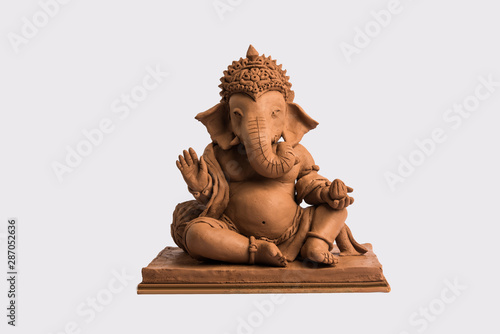 Photo eco friendly Ganesh/Ganpati idol or murti, home made