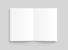 Vector Blank White Paper Opened. Front View. - Stock Vector.