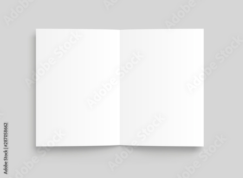 Obraz Vector blank white paper opened. Front view. - stock vector. - fototapety do salonu