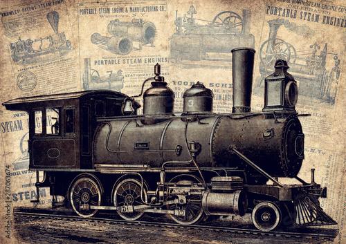 Photographie  Steampunk Vintage Erfindungen und Patente der Dampfmaschine