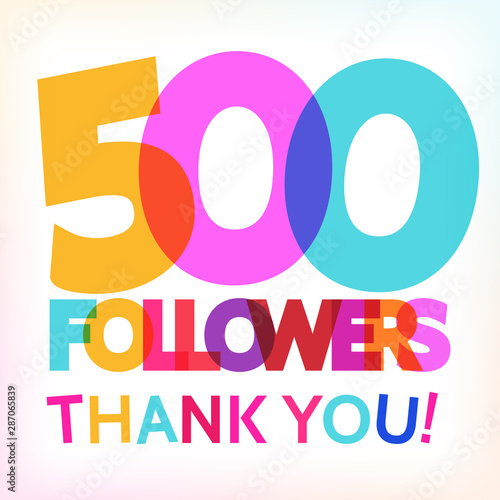Fotografia  500 followers thank you! card
