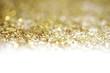 Leinwanddruck Bild Gold (bronze) glitter shine dots confetti. Abstract light blur blink sparkle defocus backgound.