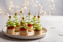 Christmas Tree Canape With Cuc...