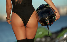 Part Of The Biker Girl In A Leather Body
