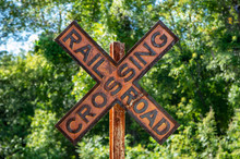 Antique Railroad Sign To Regulate Traffic