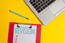 Writing Note Showing Revision....