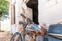 Broken Rusty Motorbike