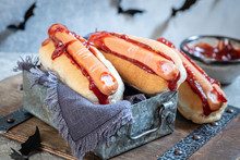 Creepy Halloween Hot Dogs Look Like A Bloody Fingers