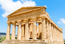 Well-preserved Temple Of Concordia In The Valley Of Temples In Agrigento, Sicily