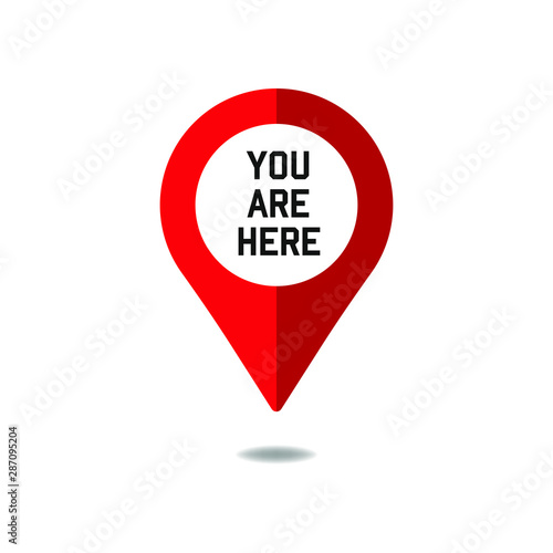 Fotomural You are here sign icon mark