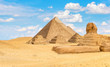 Ancient pyramids and Sphinx