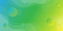 Colorful Abstract Background And Gradation Using Minimal Geometry And Wave Shape As An Element.