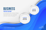blue business theme poster design template banner - 287118842