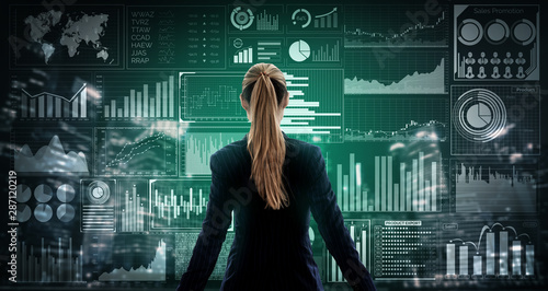 Cuadros en Lienzo Big Data Technology for Business Finance Analytic Concept