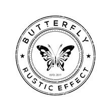 Butterfly Rustic Effect Vintage Logo