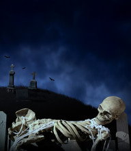 Haunted Halloween Scene