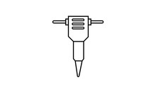 Hydraulic Breaker Icon. Hydraulic Breaker Symbol Design From Construction Collection. Simple Element Vector Illustration On White Background.