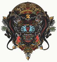 Black Panthers And Mayan Sun C...