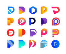 Letters P - Logo Set