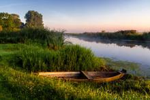 Rzeka Narew O Poranku, Podlasi...