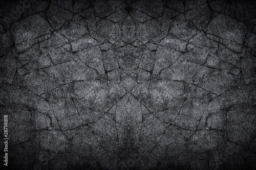 black gray dark slate stone crack background or texture - 287141818