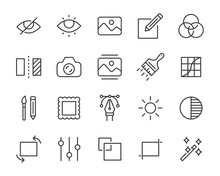 Set Of Image Icons, Photo, Gallery, Photo Editing