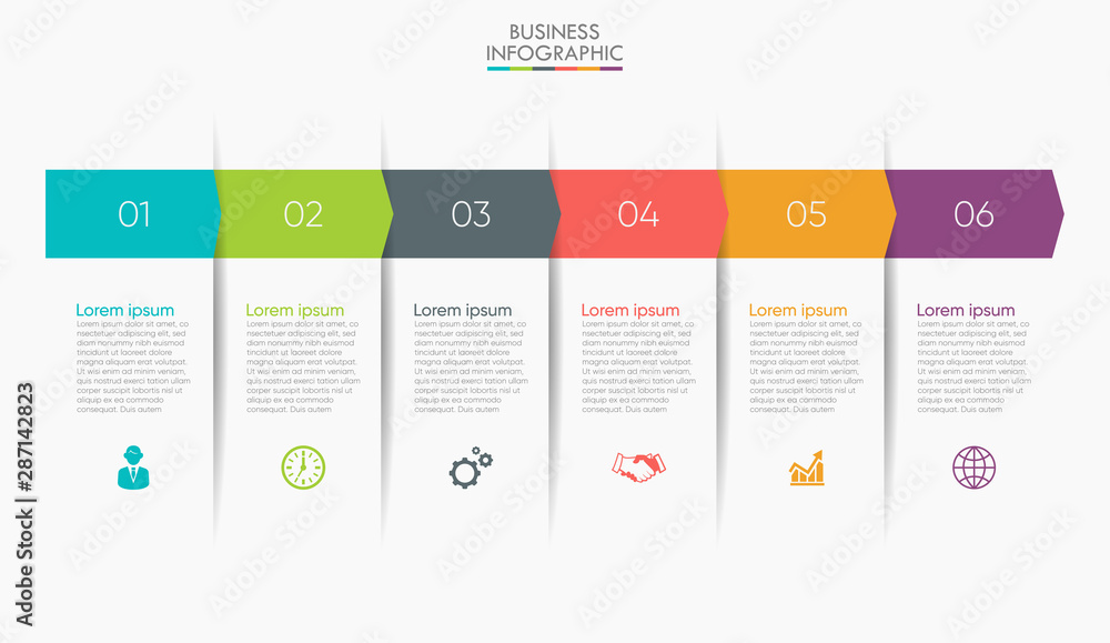 Fototapety, obrazy: Business data visualization. timeline infographic icons designed for abstract background template milestone element modern diagram process technology digital marketing data presentation chart Vector