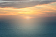 Beautiful nature sea and sunrise or sunset with morning light or evening