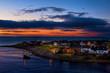 Boat sailing from Brora at sunrise