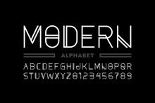 Modern Style Font, Alphabet Le...