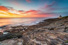 Stunning Sunrise Over The Beach At Howick On The Northumberland Coast