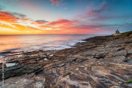 Keuken foto achterwand Kust Stunning sunrise over the beach at Howick on the Northumberland coast