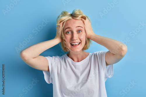 Fotografie, Tablou  funny crazy girl is being mad at sales, discounts